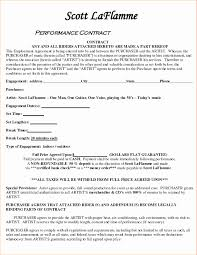 Artist Agreement Contract Barter Agreement Template New Artist Agreement Contract Domosens 11