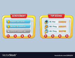 Game User Interface Templates Vector Image On Vectorstock