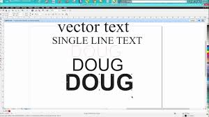 Using this technique, you can print a postage stamp design onto. Corel Draw Tips Tricks Vector Line Font Or Single Line Font Youtube
