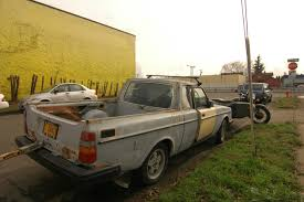 OLD PARKED CARS.: 1979 Volvo 242 GT Pickup Truck.