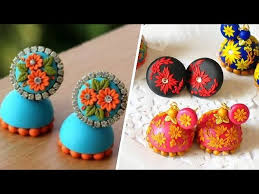 top 10 designer polymer clay jhumkas collections polymer clay jewelry uma