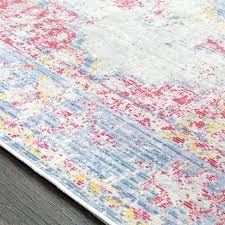 pink and blue area rugs bungalow rose vintage distressed oriental rectangle pink blue in and rug