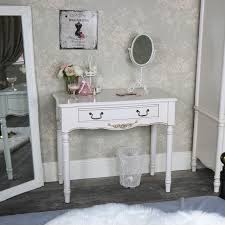 ornate antique cream console table adelise range