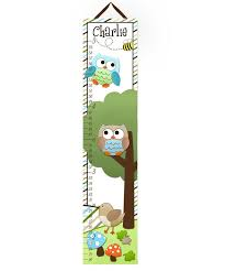 Parakeet Growth Chart Toad And Lily Canvas Growth Chart Stacked Owls Girls Kids