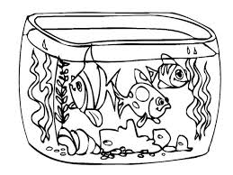 Small Picture How To Draw Fish Tank Coloring Page NetArt Coloring Home