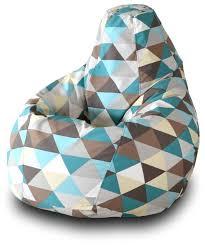 Купить <b>Пазитифчик кресло</b>-<b>груша Ромб</b> 01 белый/голубой ...