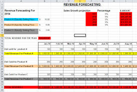 forecast model in excel sales forecast template in excel