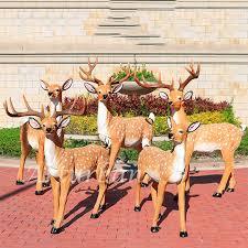 life size fiberglass deer garden statue