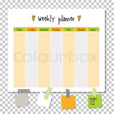 Planner Paper Template Weekly Planner Note Paper Notes To Stock Vector Colourbox
