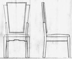 chair design drawing. Art Deco Chair Design Drawing