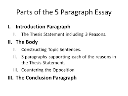 guidelines for the argumentative essay ppt video online  parts of the 5 paragraph essay