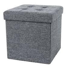 small ottoman stool. Small Ottoman Stool Footrest Puff Folding Chest Furniture Storage Bedroom Decor