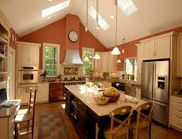 kitchen spacious kitchen best 25 vaulted ceiling ideas on with at cathedral lighting from