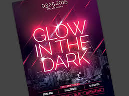 glow flyer glow in the dark flyer by stylewish dribbble
