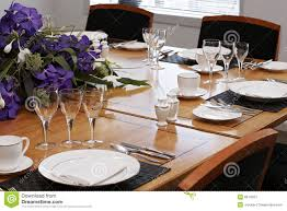 Formal Dining Room Table Set Up