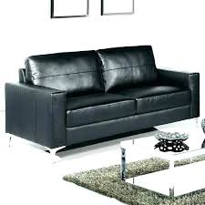 black leather corner sofa small couch bed c