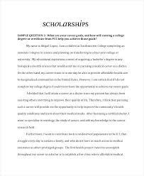 Scholarships Essays Examples College Scholarship Essay Example