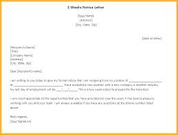 One Week Notice Resignation Letter One Week Notice Template Thirdbattalion Info