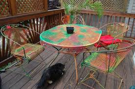 painting patio furnitureDecor of Painting Patio Furniture Ideas Painting Rusted Metal