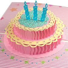 Amazoncom Birthday Cake 3d Pop Up Greeting Card Happy Birthday