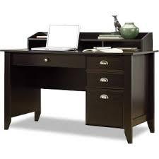 office wood desk. shoal creek dark brown wood desk u0026 black chair office