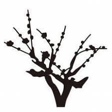 梅の木シルエット イラストの無料ダウンロードサイトシルエットac