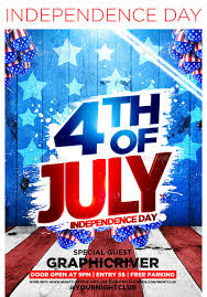 Designer Graphics For The 4th Of July Flyers Icons