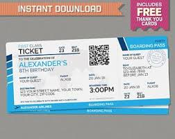Boarding Pass Invite Etsy
