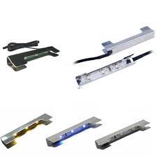 Led Rgb Glass Edge Lighting Clips Aiboo Under Cabinet Led Lights For Glass Edge Shelf Back