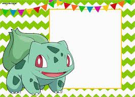 Pokemon Birthday Invitation Templates Free Printable Party