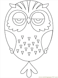 Small Picture Free Owl Preschool Coloring Pages Coloring Home