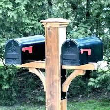 mailbox post plans double decorative cedar wood with designs design ideas o95 design