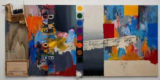 jasper johns american born 1930 according to what 1964 oil on canvas with objects six panels on loan from a private collection