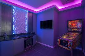 Gaming Led Wall Lights Amazing Sci Fi Game Room With Color Led Lights Custom Metal