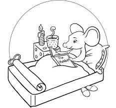 Adairs kids is australia's leading retailer of premium kids bed sheets, quilts, quilt covers, blankets, & other bedding. Cartoon Mouse Reading A Magazine In Bedroom Coloring Line Art Drawing Sheet Coloring Books Coloring Pages Drawing Sheet