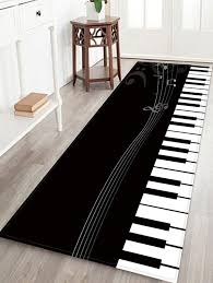 trendy piano key pattern water absorption area rug