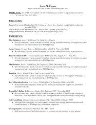 Waitress On Resume | Nfcnbarroom.com
