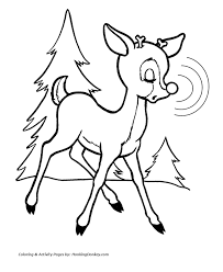 Small Picture Christmas Coloring Pages Of Rudolph The Red Nosed Reindeer