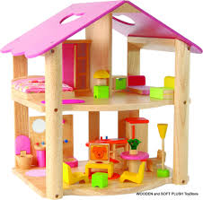 pink dolls house furniture. *NEW Wooden Toy PINK DOLL HOUSE + FURNITURE Childs GIFT Pink Dolls House Furniture