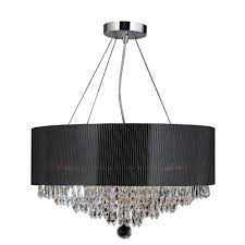 2018 chandeliers with black shades with regard to worldwide lighting gatsby collection 8 light polished chrome