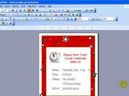 how to create a birthday card on microsoft word design invitations in powerpoint youtube