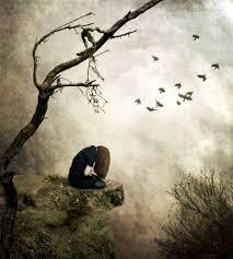 Sad Girl Sitting On A Cliff One Digital Art Emotional Stock Photo Amazing Sad Emotional Pics