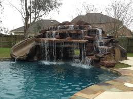 large rock waterfall and slide