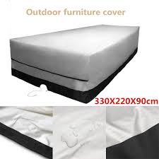 outdoor garden furniture cover 330x220x90cm rect patio table desk chair waterproof black color 600d dust rain uv protection butchers a work as from