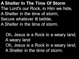 Image result for picture of shelter in the time of storm