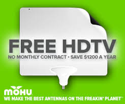 tv no cable. get free hdtv with no monthly cable bill the mohu antenna tv