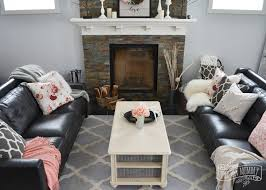 a black blush pink living room diy