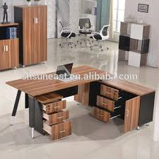 Modern Office Table Design Executive Desk With Side  E