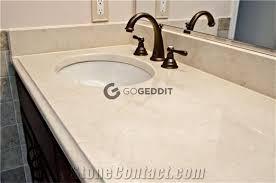 crema marfil marble bathroom countertop