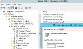 Managing Domain Password Policy In The Active Directory